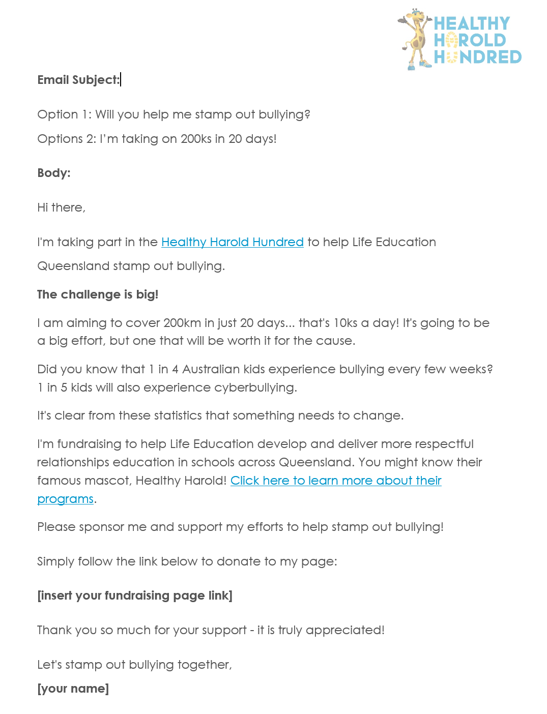 Get Support Email Template - 100ks
